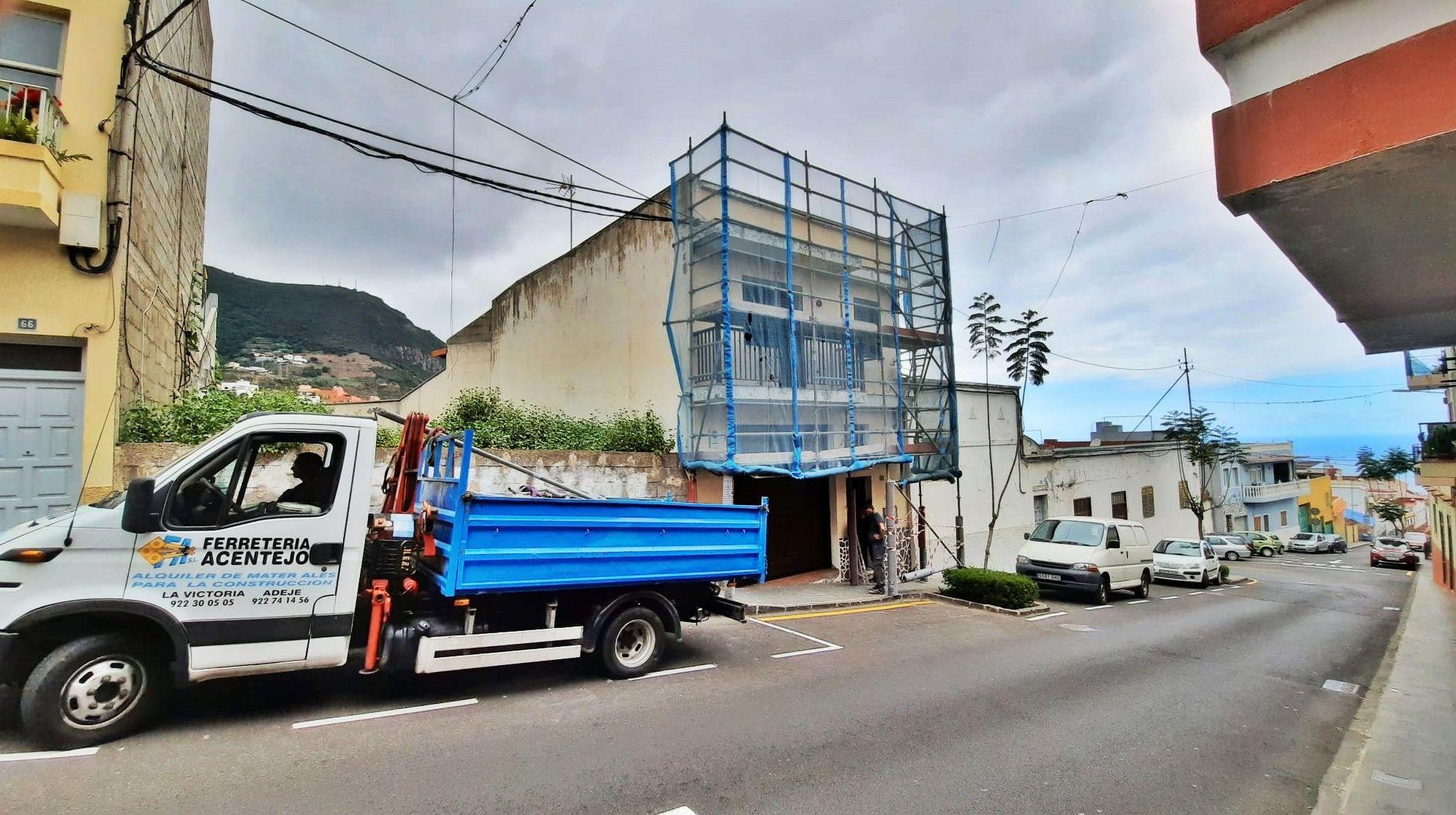 Andamio de fachada. Tenerife.