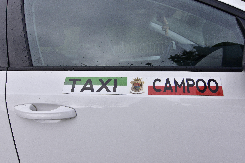 Flota de varios taxis en Campoo de Enmedio
