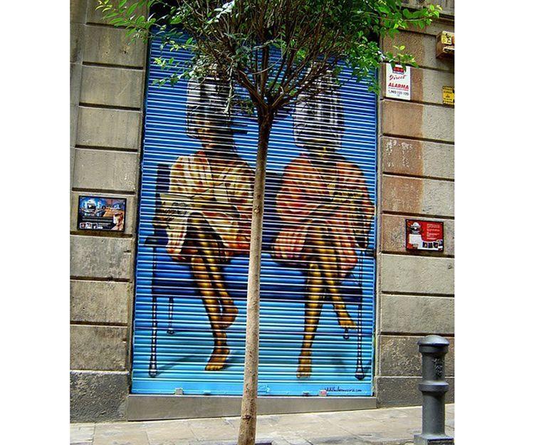 Grafiti personalizado para puerta