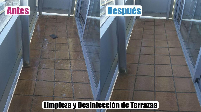 Limpieza y Desinfección de Terrazas
