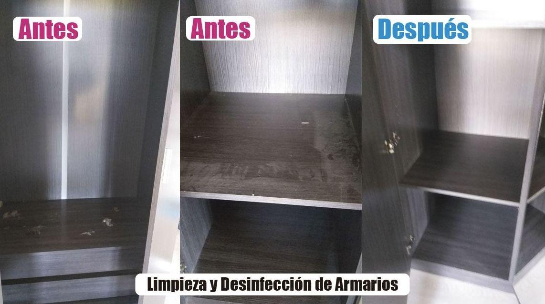Limpieza y desinfecciones de armarios