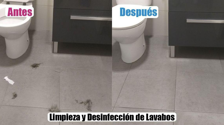 limpieza y desinfección de lavabos