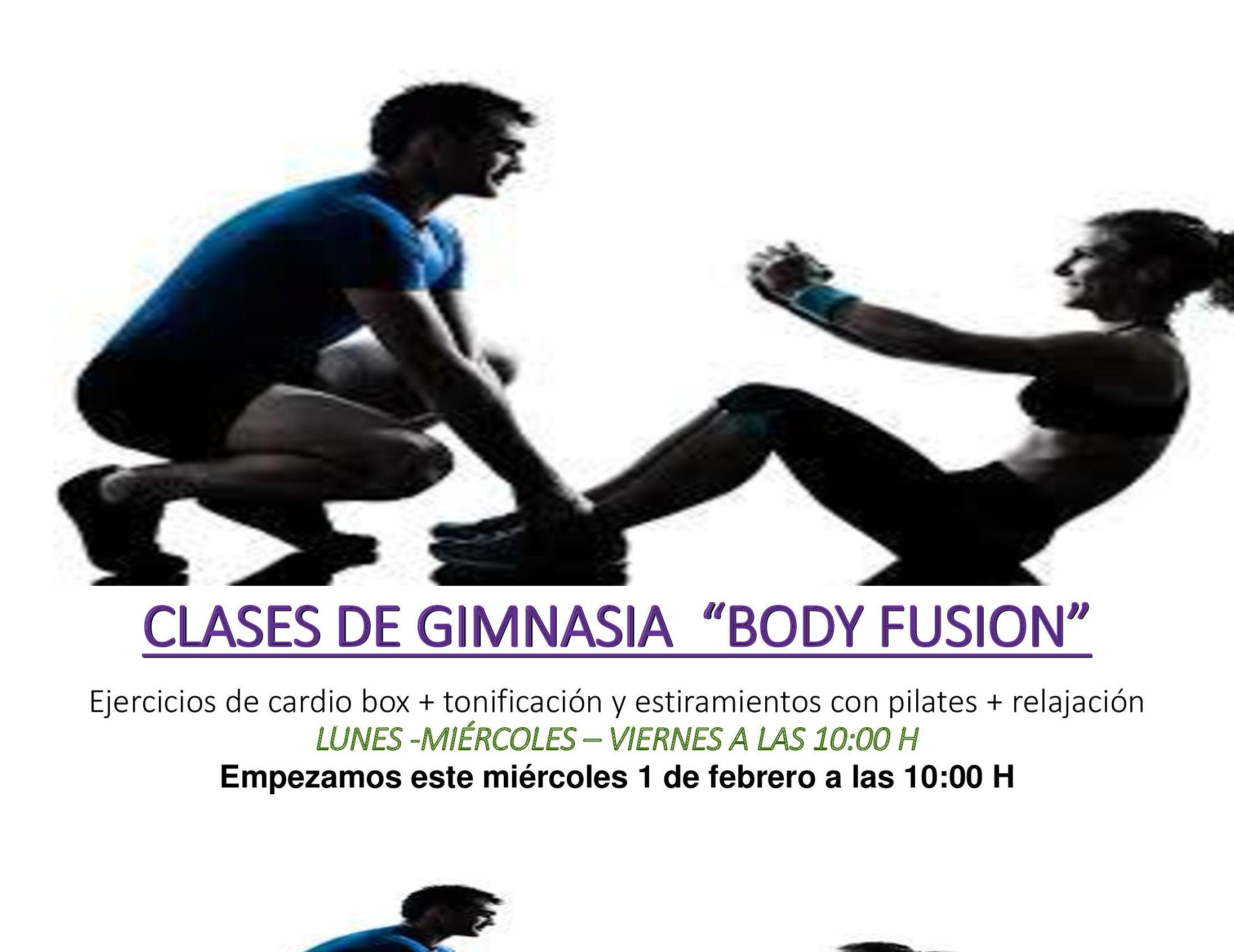 """Clases Gimnasia """"Body Fusión"""""""