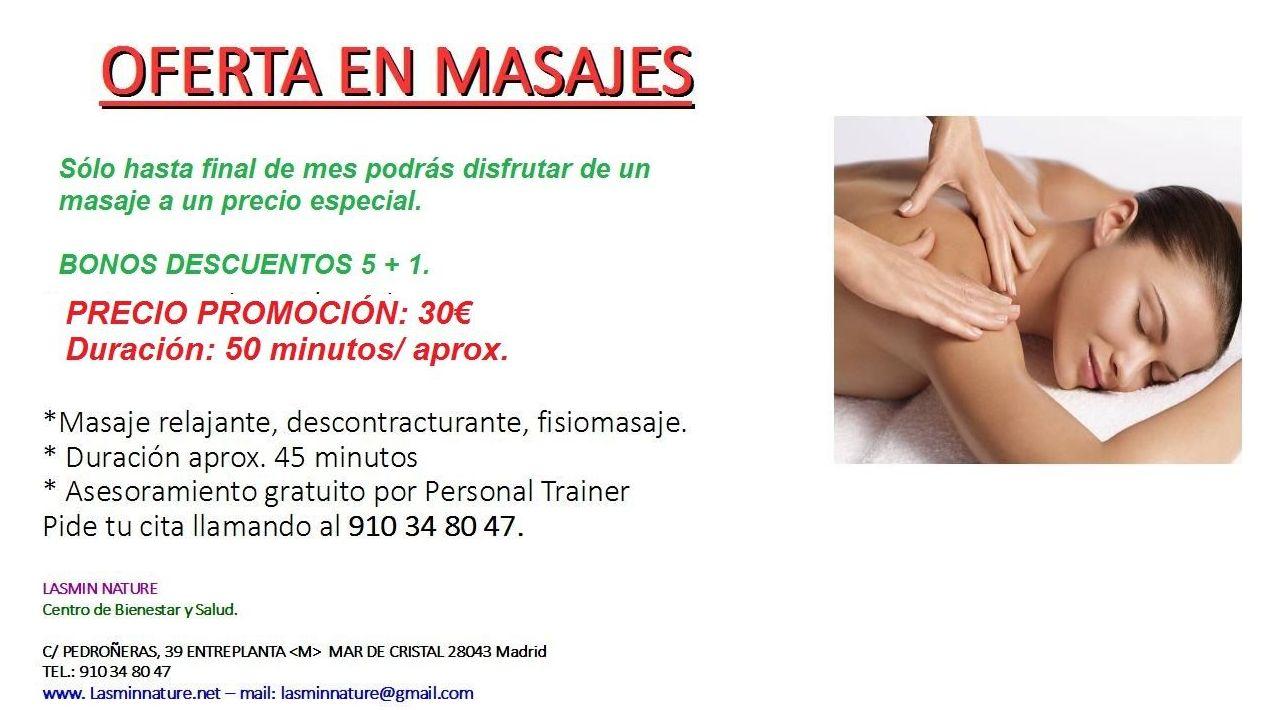 Oferta en Masajes Madrid