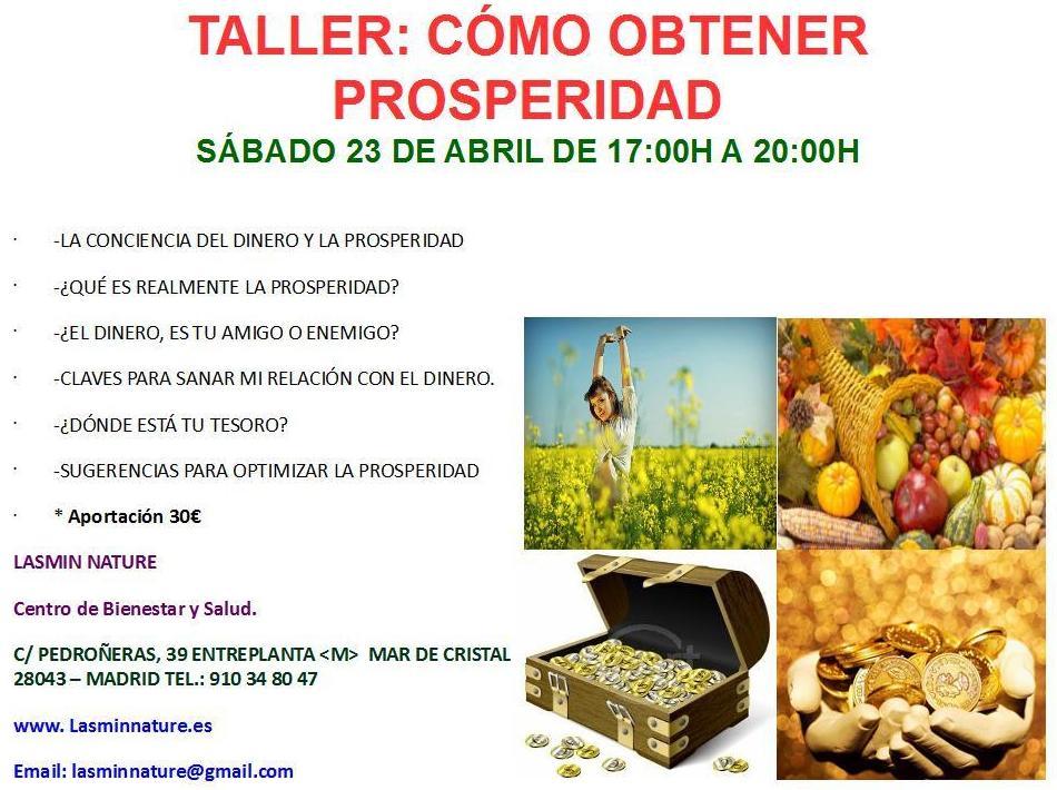 TALLER: COMO OBTENER PROSPERIDAD MADRID
