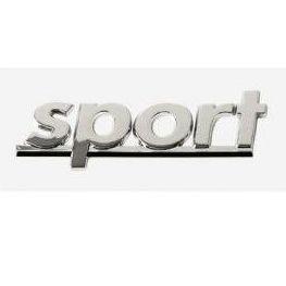 """Anagrama cromado adhesivo """"sport"""": Productos de Sucesor de Benigno González"""