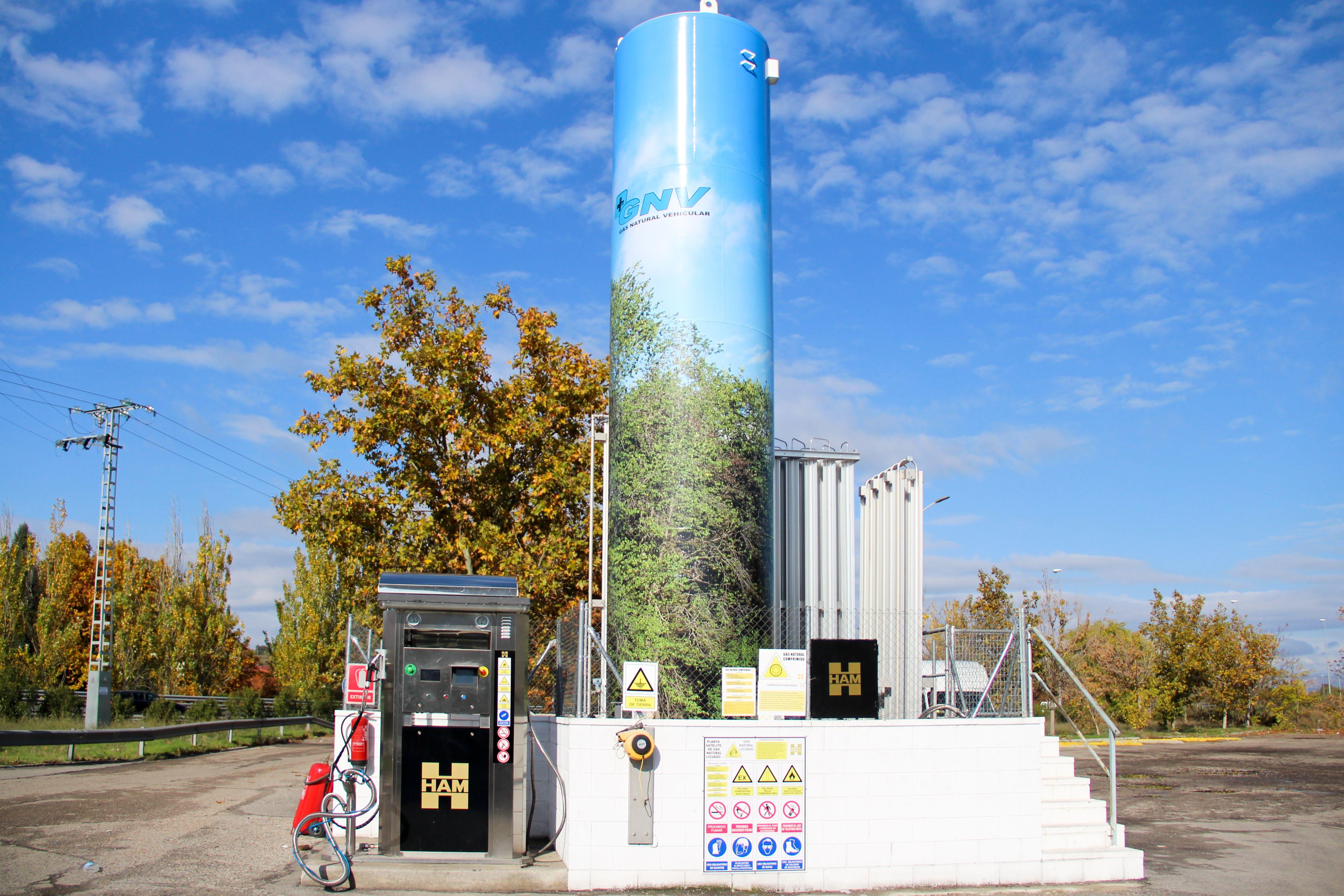 Zona gas natural licuado Estación de Servicio Navalcarro BP