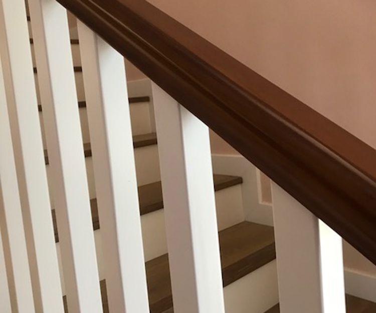 Detalle de escalera de madera