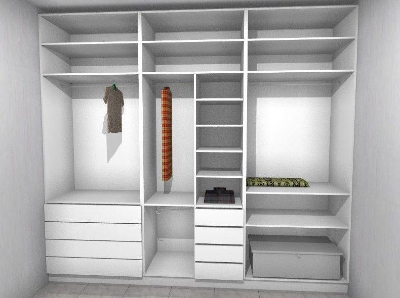 render interior armario empotrado  El Ejido