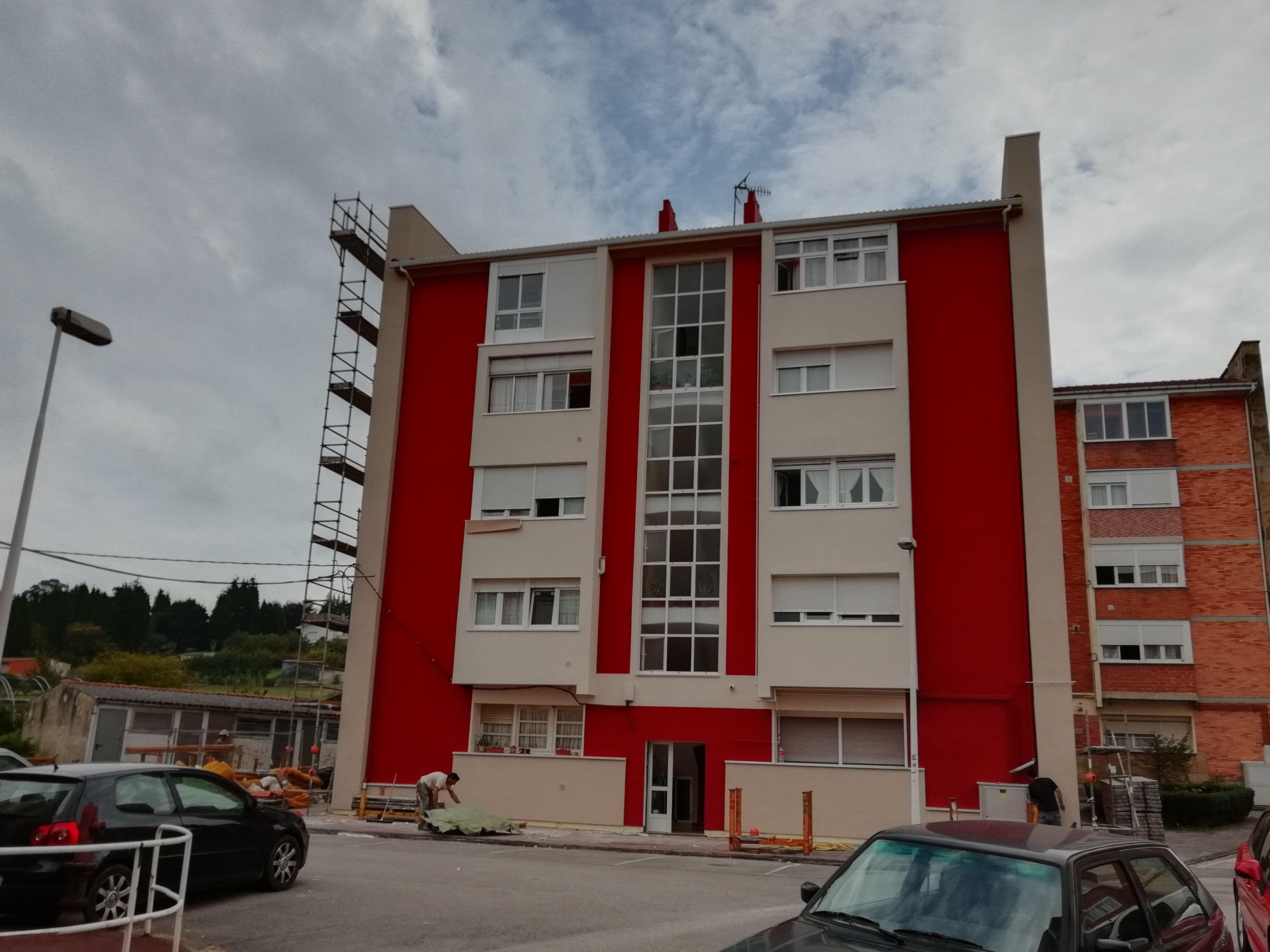Rehabilitación de fachadas en Mieres