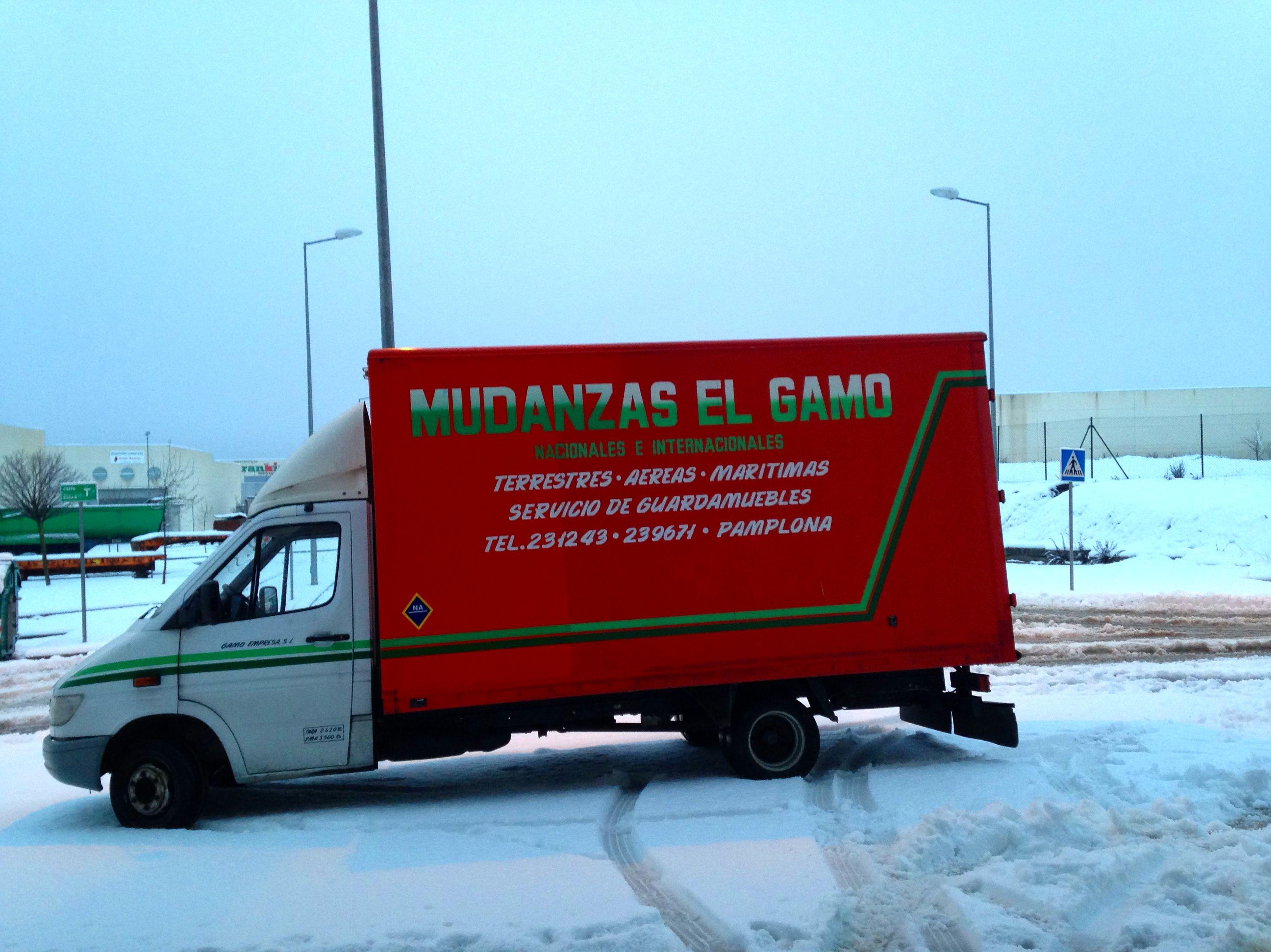 Con nieve por Navarra.