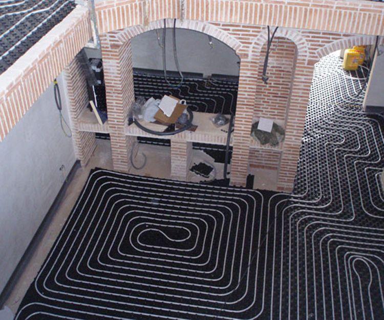 Instalación de suelos radiantes