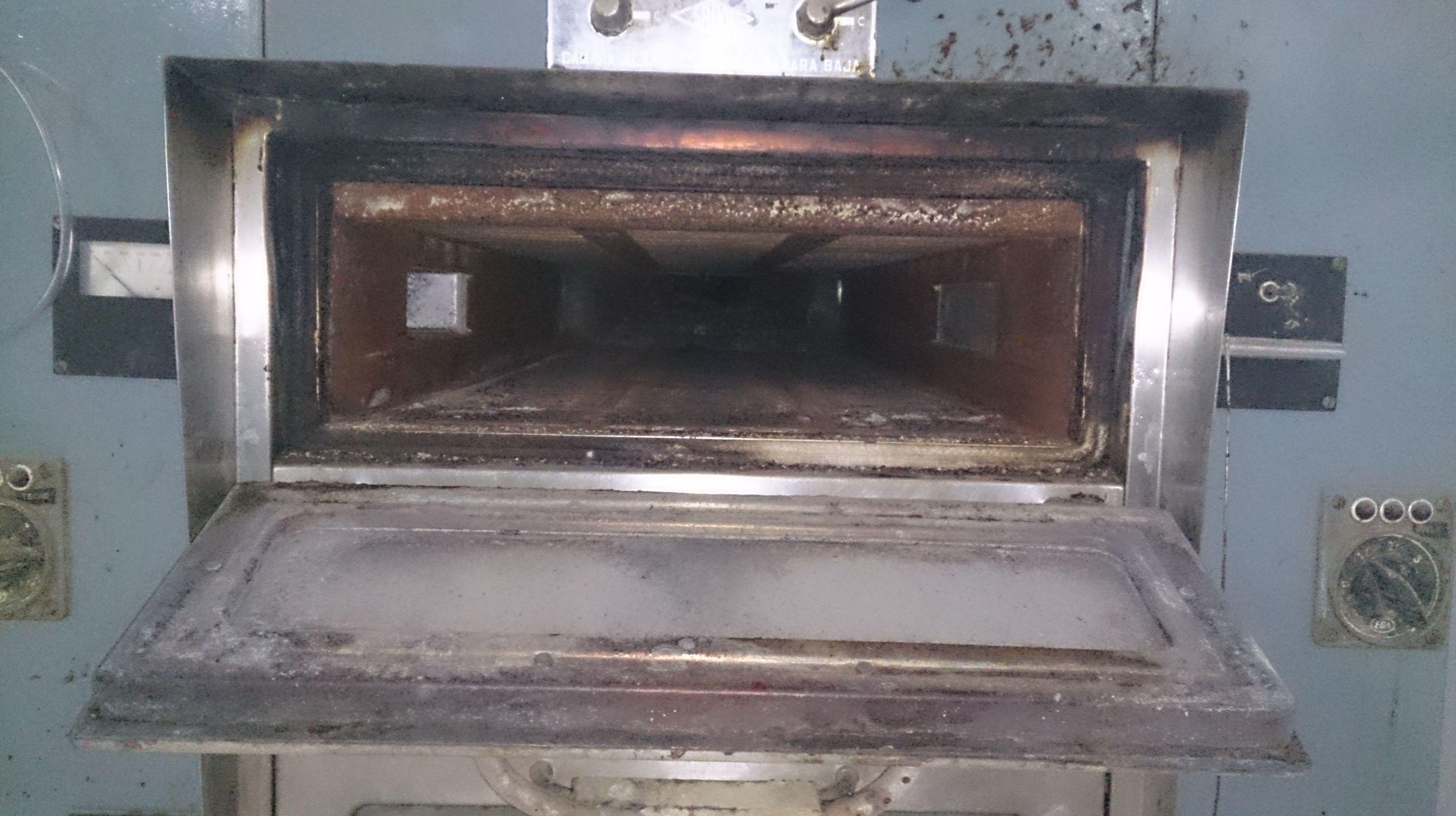 Aislamiento de hornos con amianto