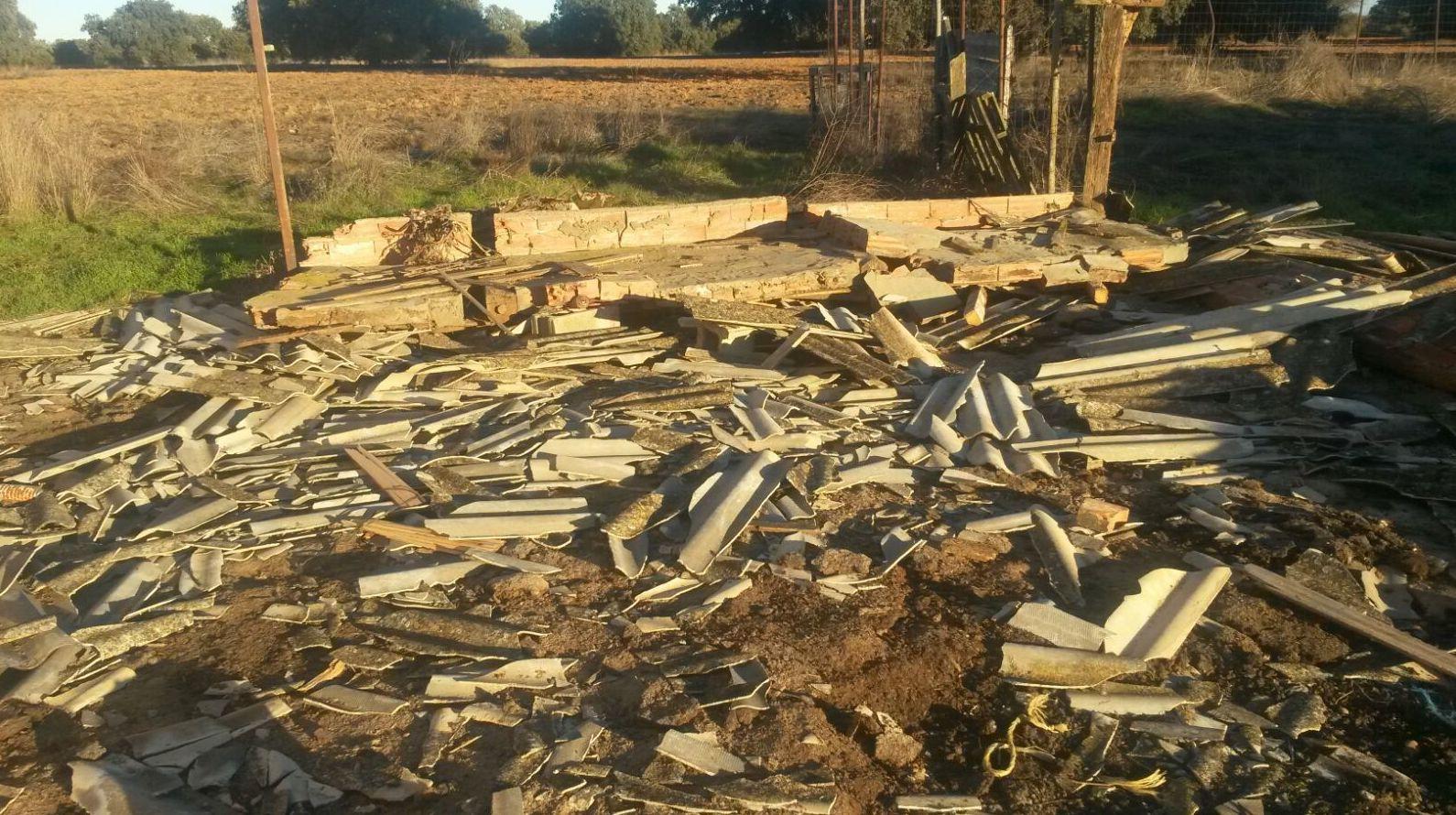 Escombros de amianto en Benavente