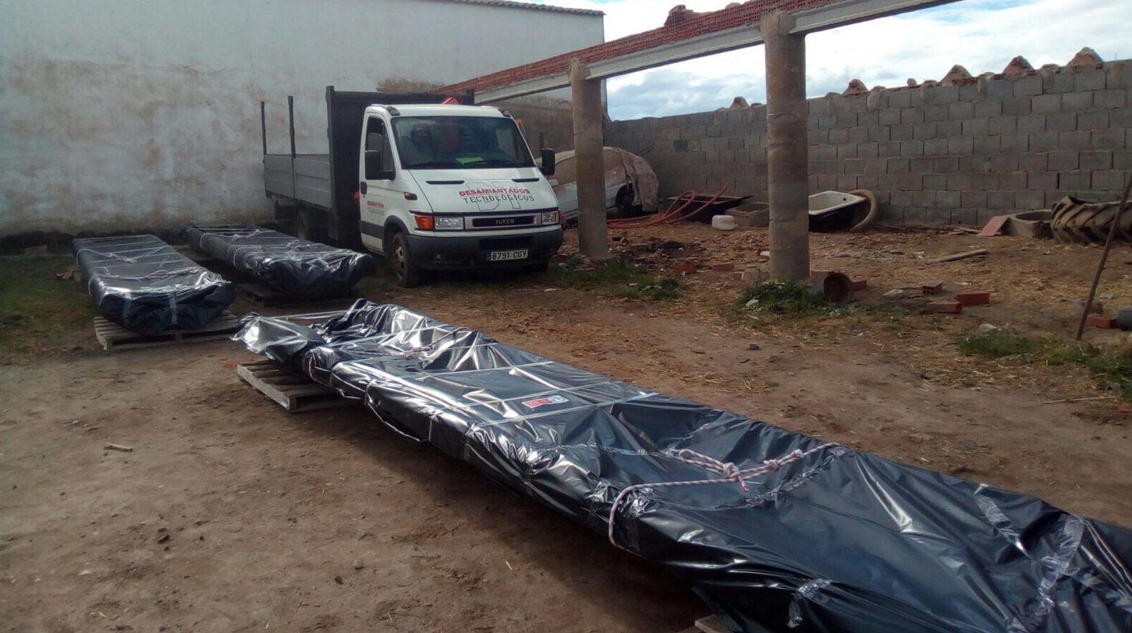 Retirada de amianto en Navales (Salamanca)