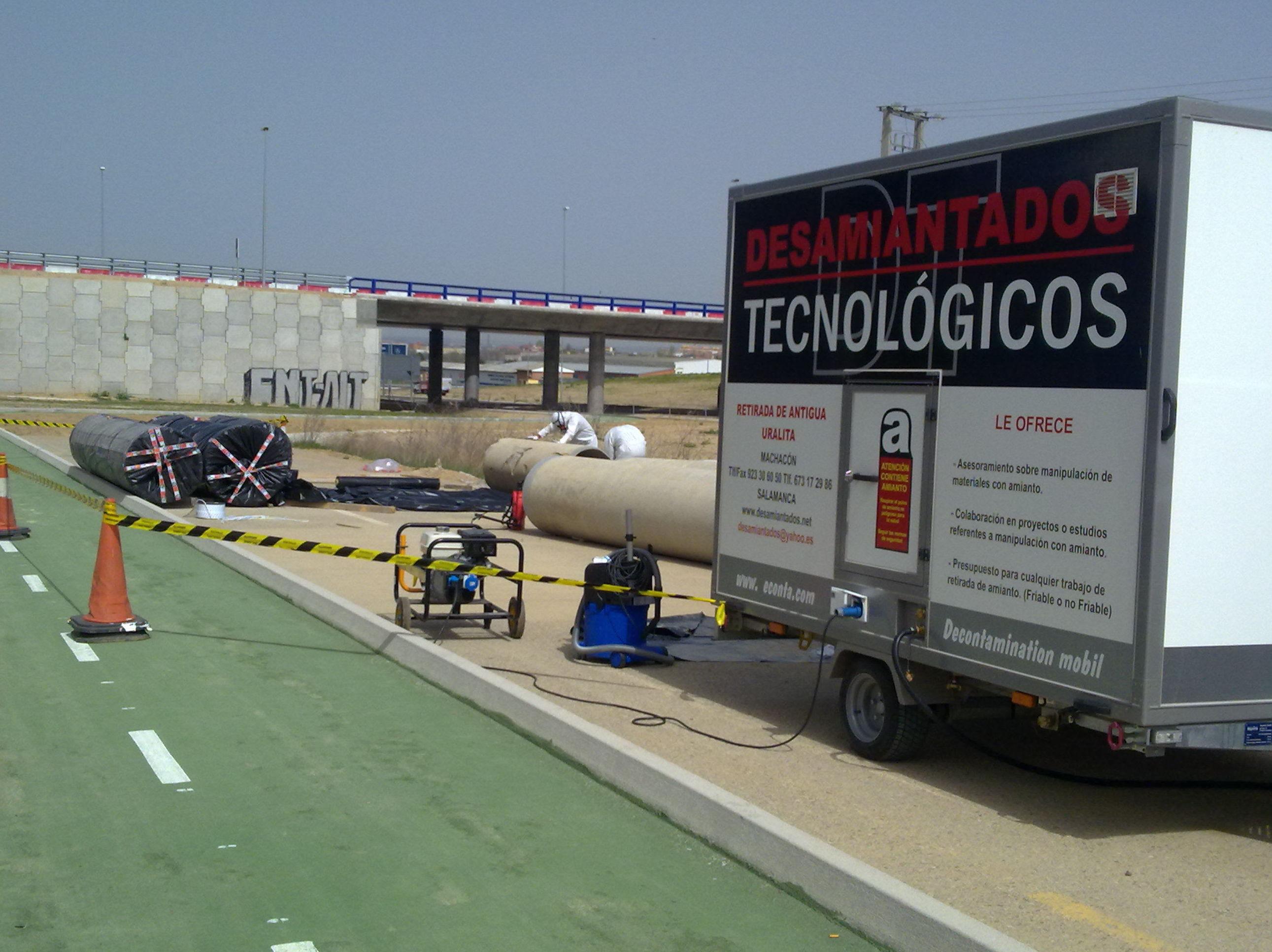 Cabina móvil de descontaminación