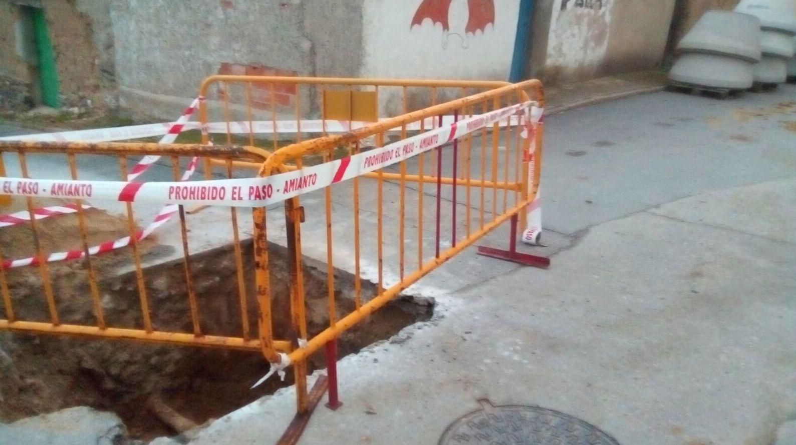 CORTE DE TUBERÍAS CON AMIANTO EN SALAMANCA