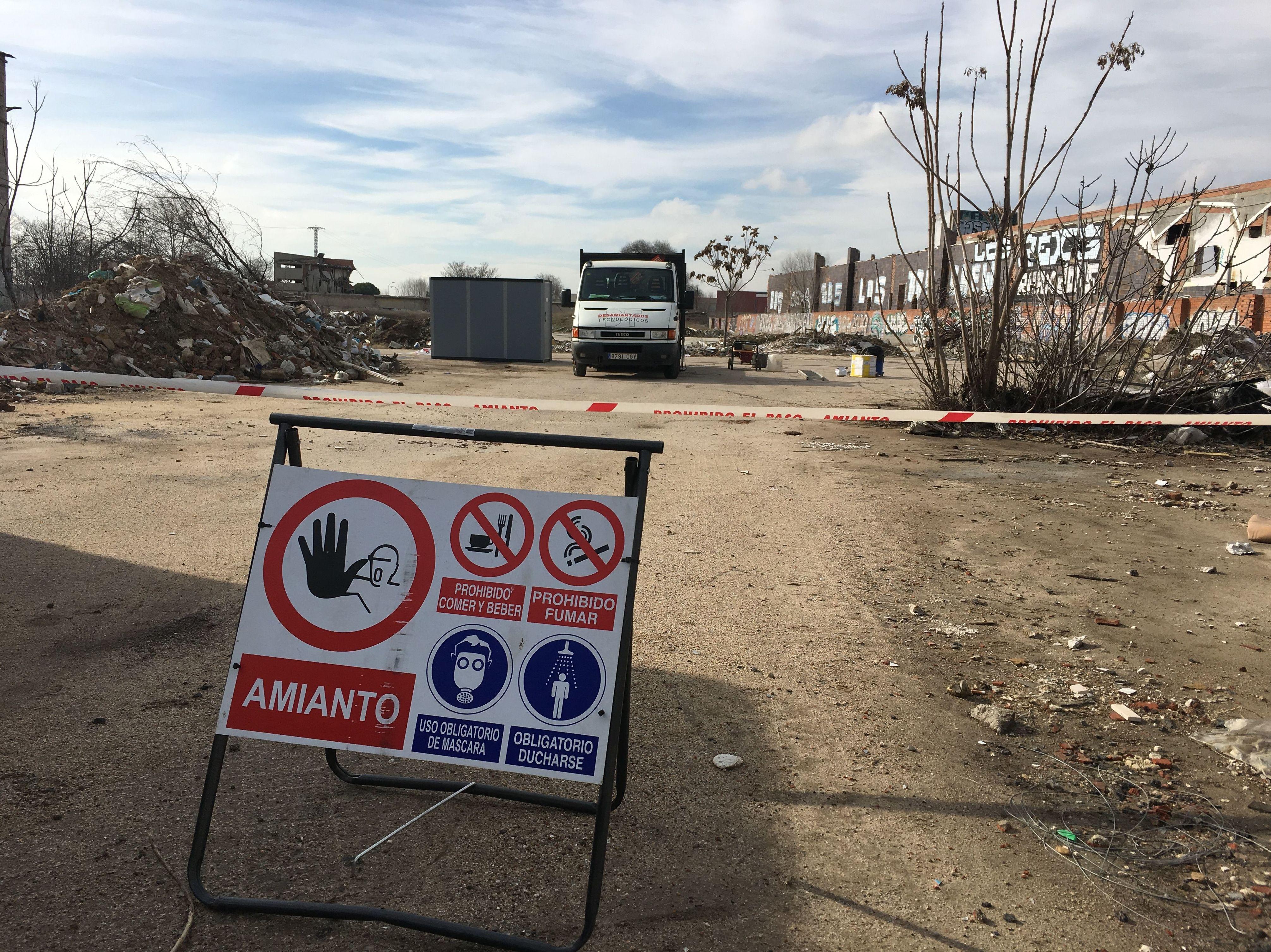 Recogida de amianto en Getafe (Madrid)