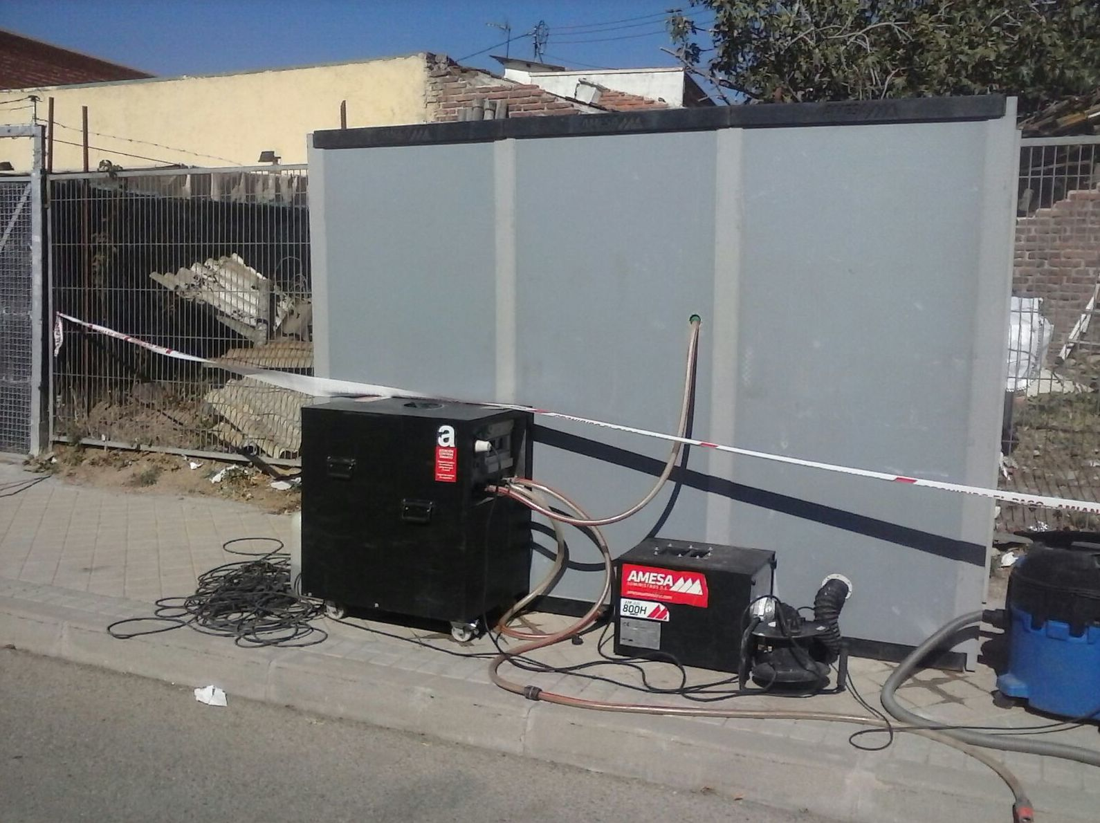 Cabina de descontaminación desmontable