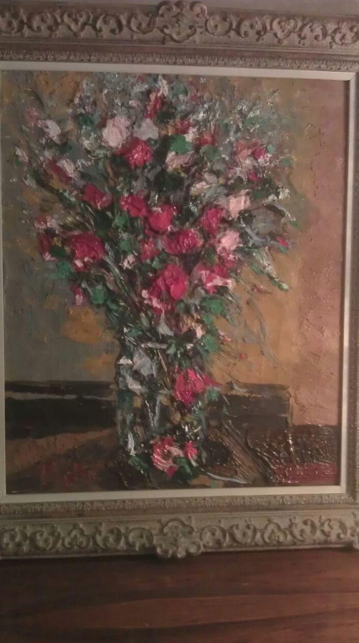 Cuadro de jarrón con flores