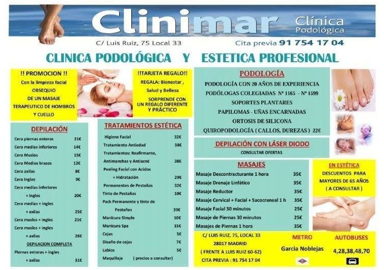 tratamientos podología y estética enMadrid