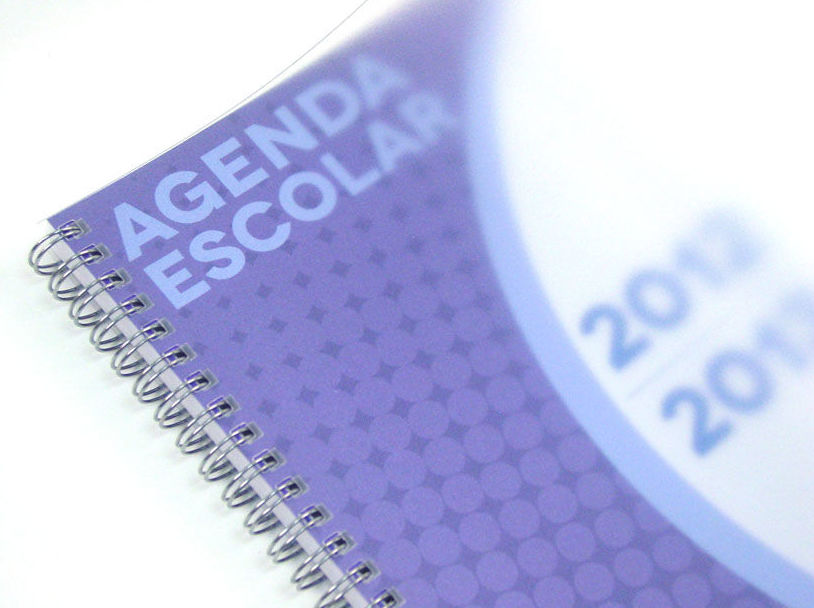 Impresión de agendas escolares