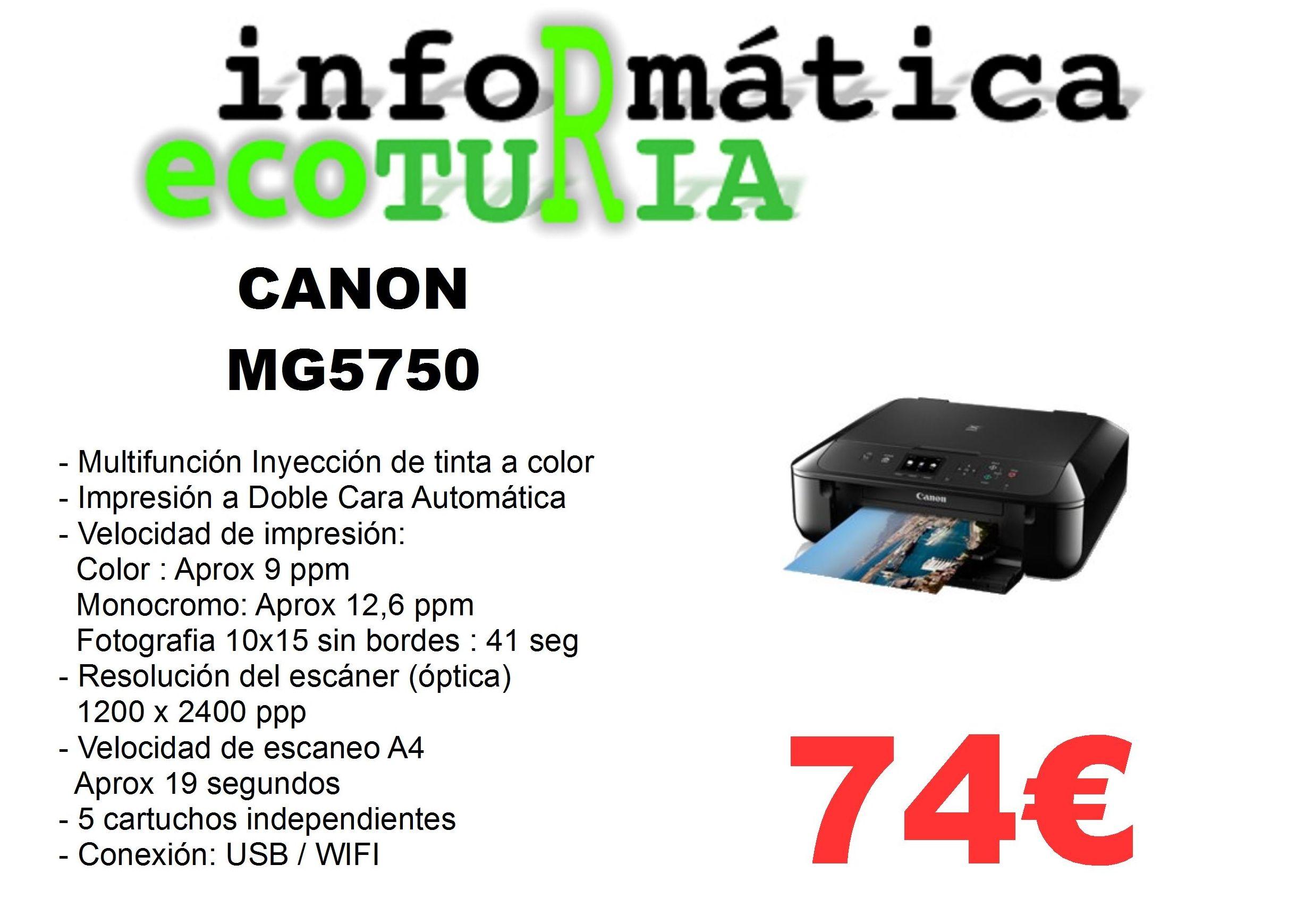 Multifunción Canon MG5750