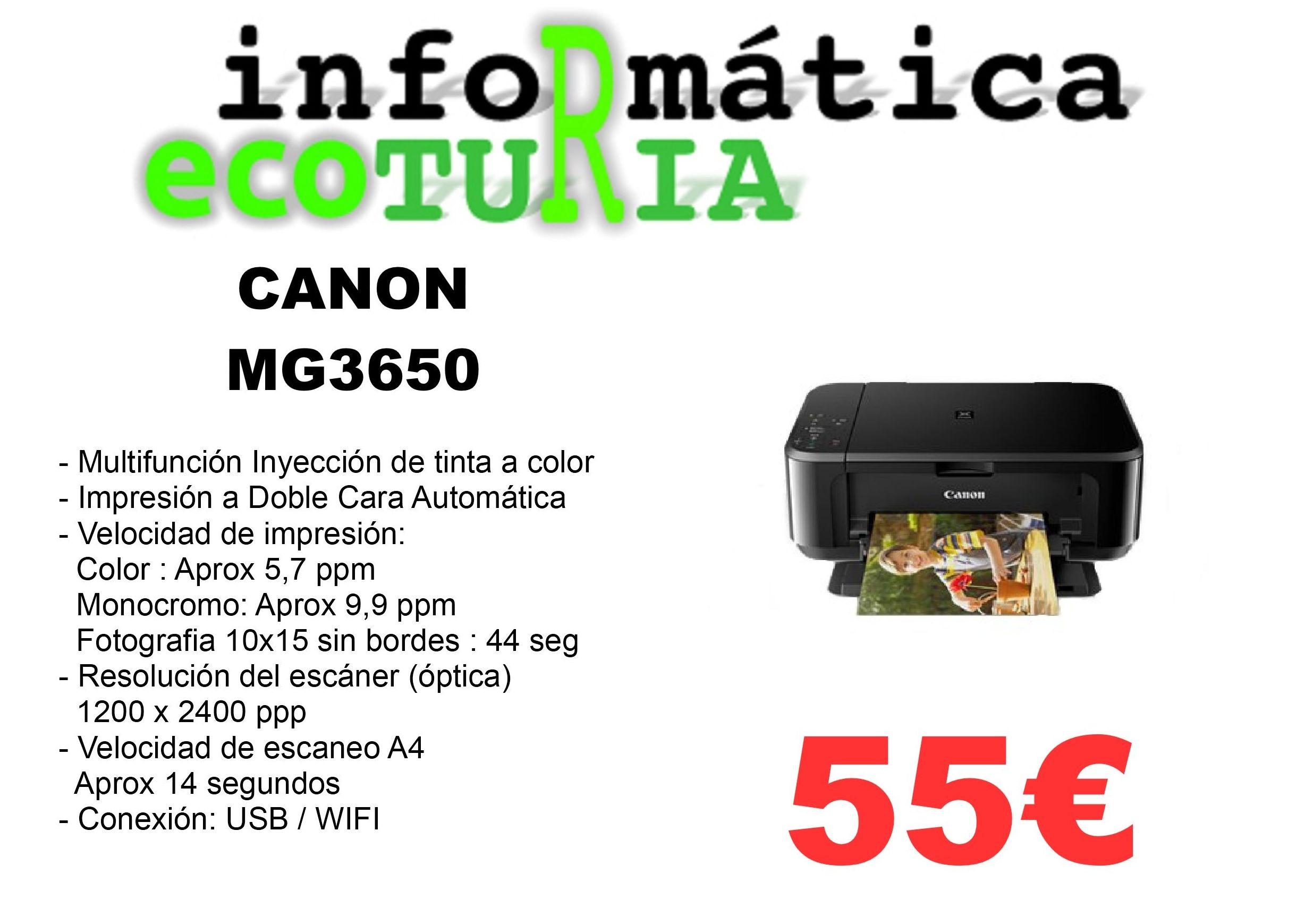 Multifunción Canon MG3650