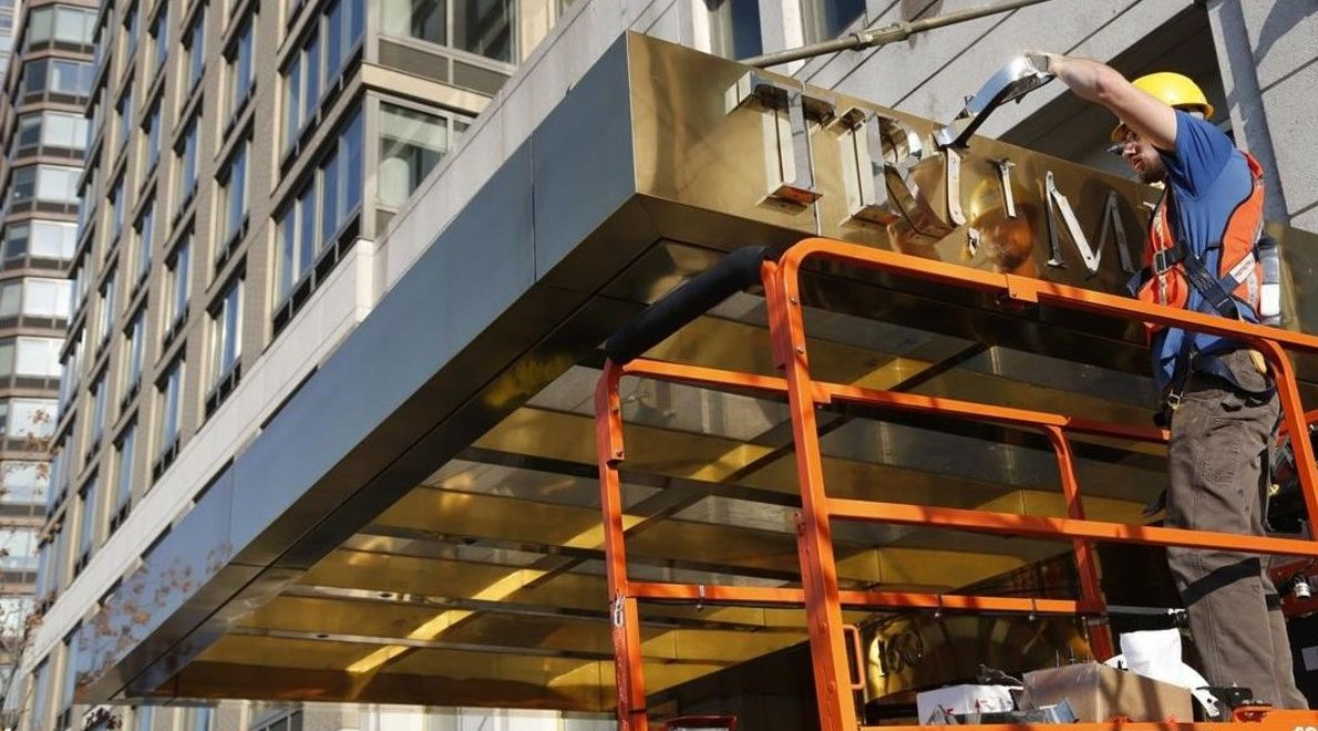 Tres edificios de lujo de Nueva York retiran el nombre de Trump de su fachada