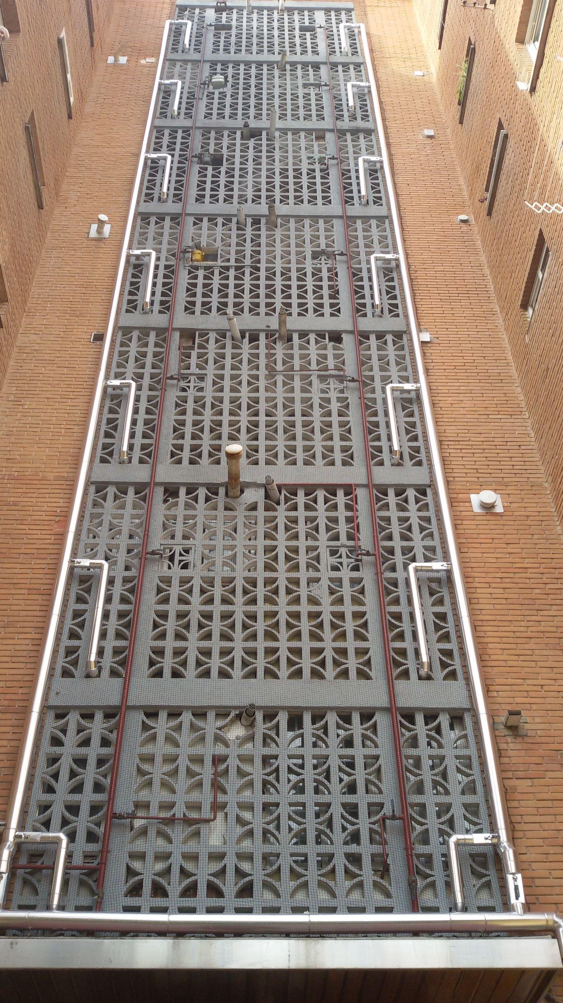 Instalación exterior de red de agua fría sanitaria