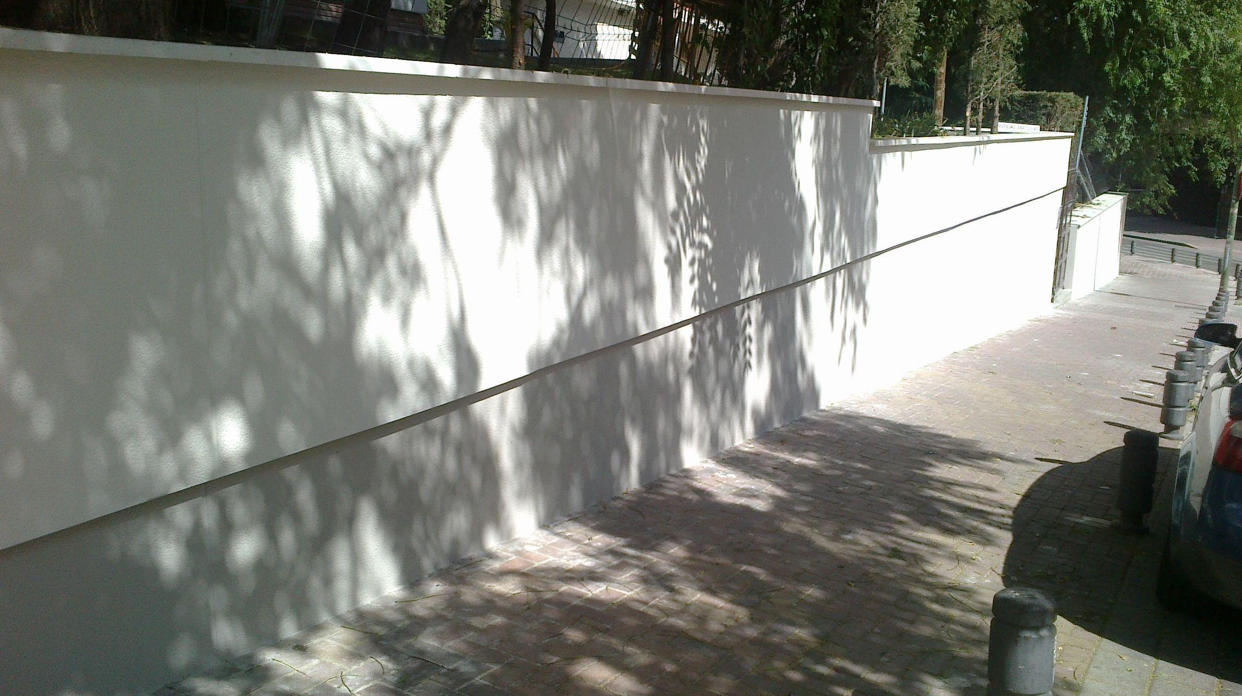 Rehabilitación muro cerramiento. Estado reformado