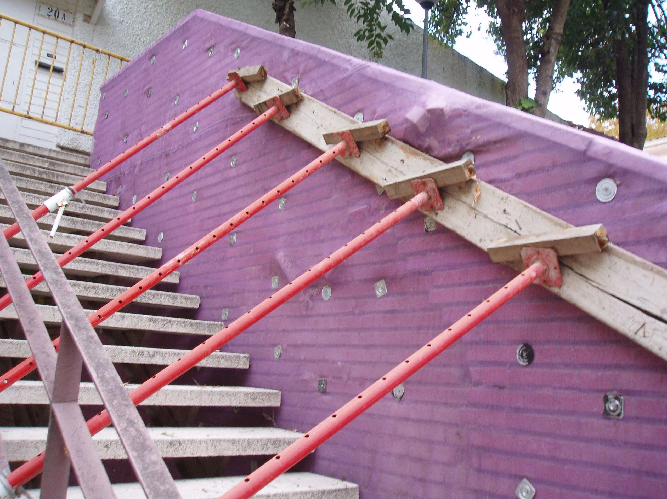Consolidación muro contención. Estado anterior