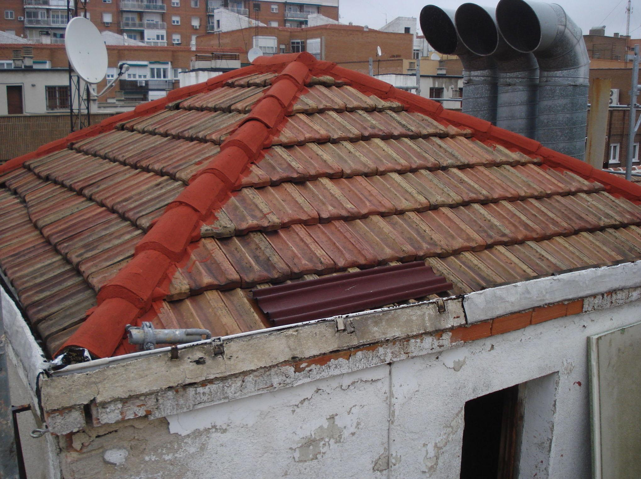 Rehabilitación cubierta teja plana. Estado anterior