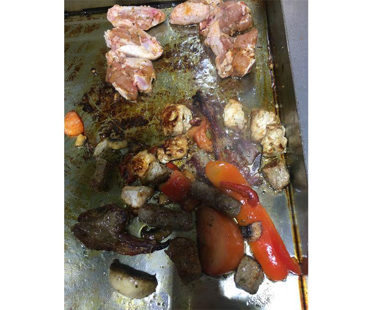 Preparación de los platos turcos