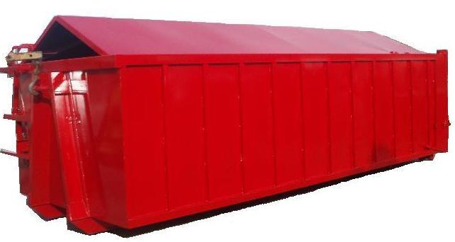 Contenedores con caja tapados