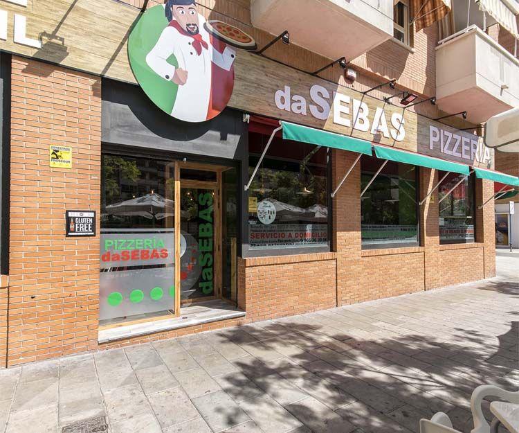 Fachada de Pizzería Da Sebas en Alicante