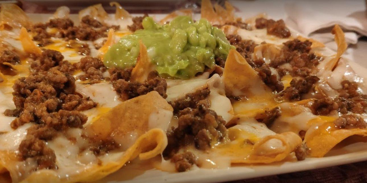 Nachos del restaurante mexicano El Nopal