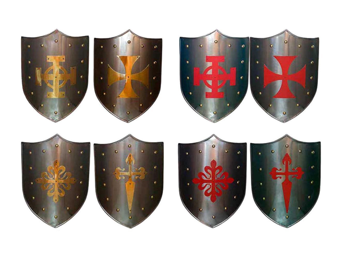 Gran variedad de escudos medievales