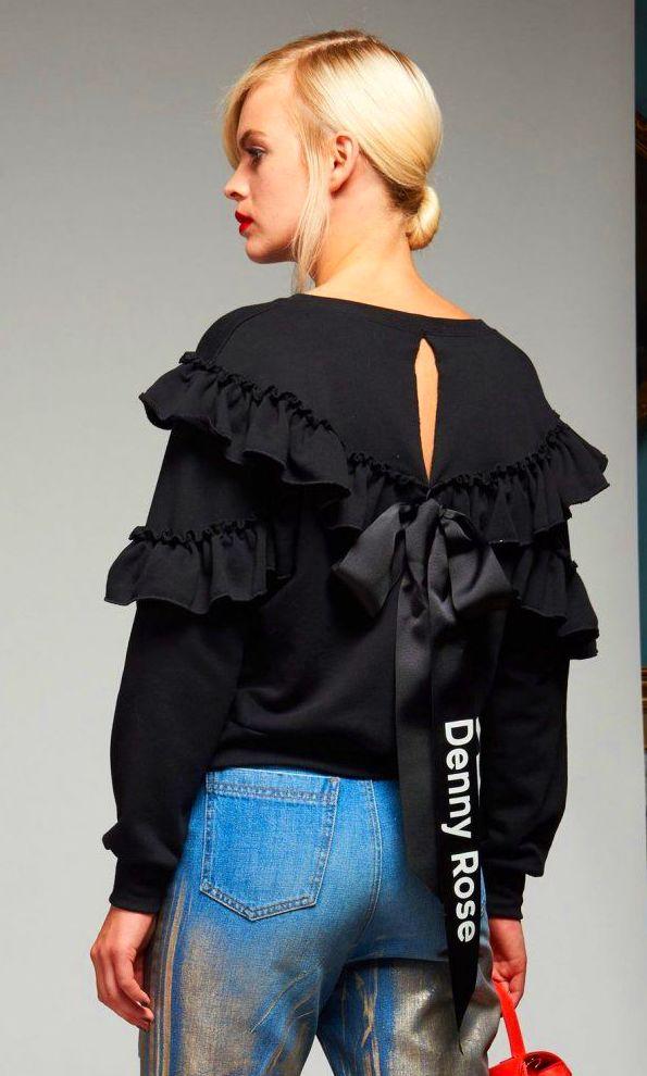 Camiseta Volantes Negra