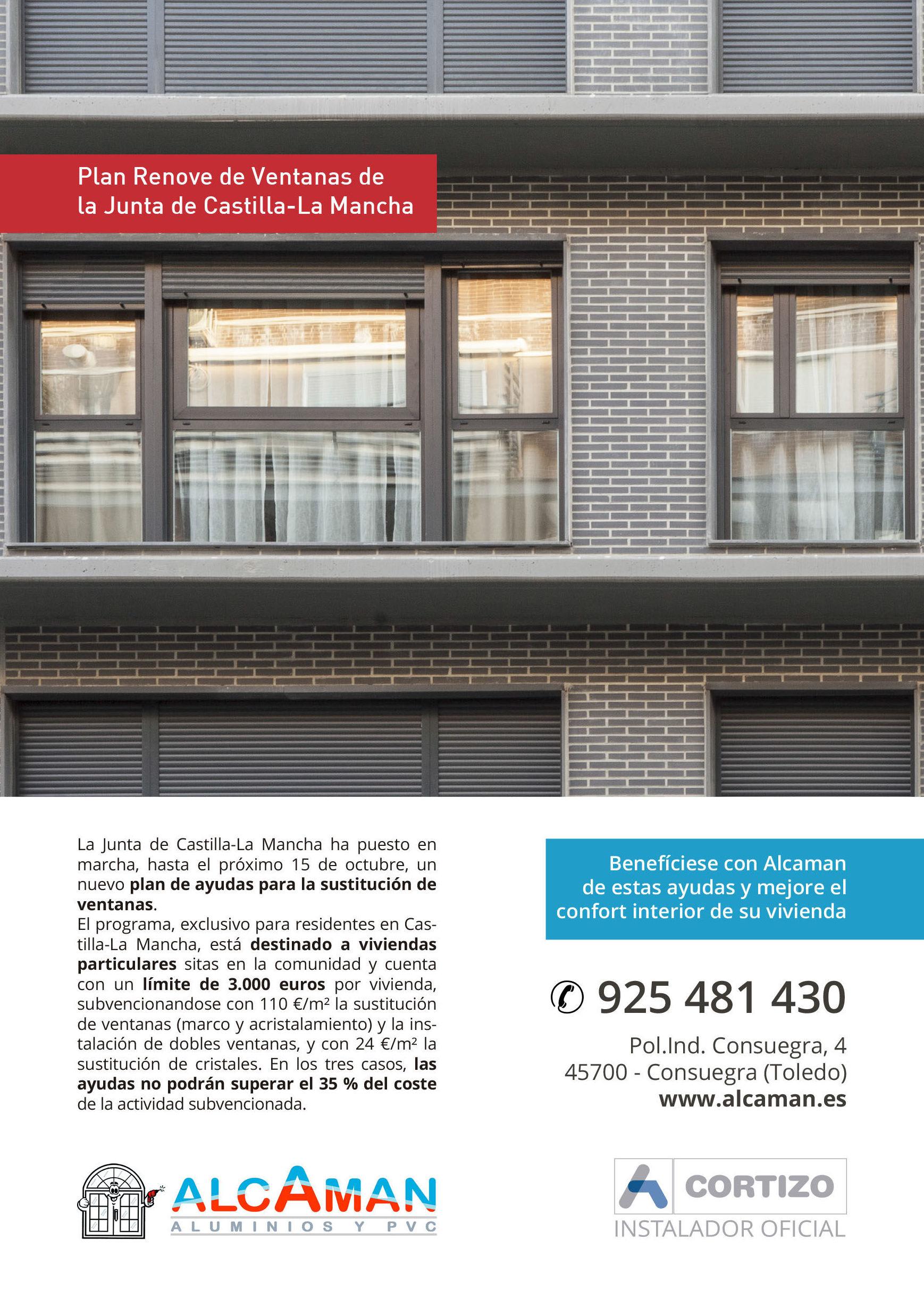 Plan Renove de Ventanas en Castilla la Mancha