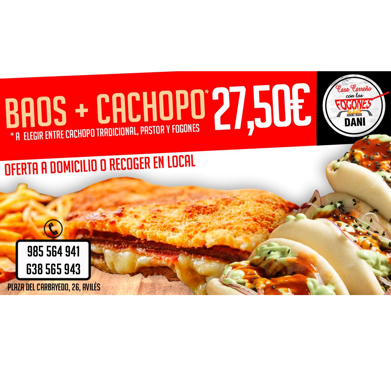 Baos + cachopo