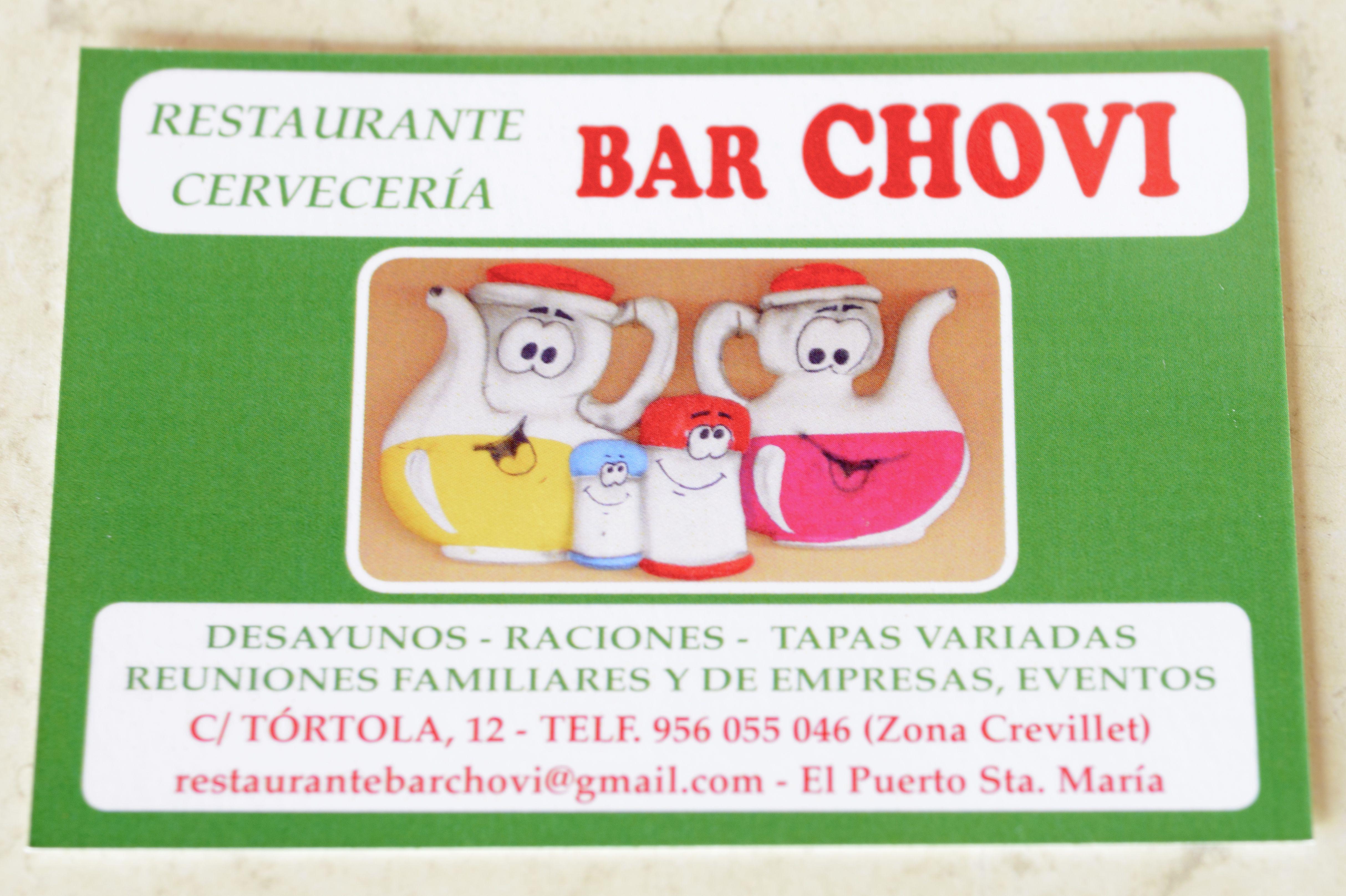 Foto 2 de Cocina andaluza en El Puerto de Santa María | Restaurante Bar Chovi