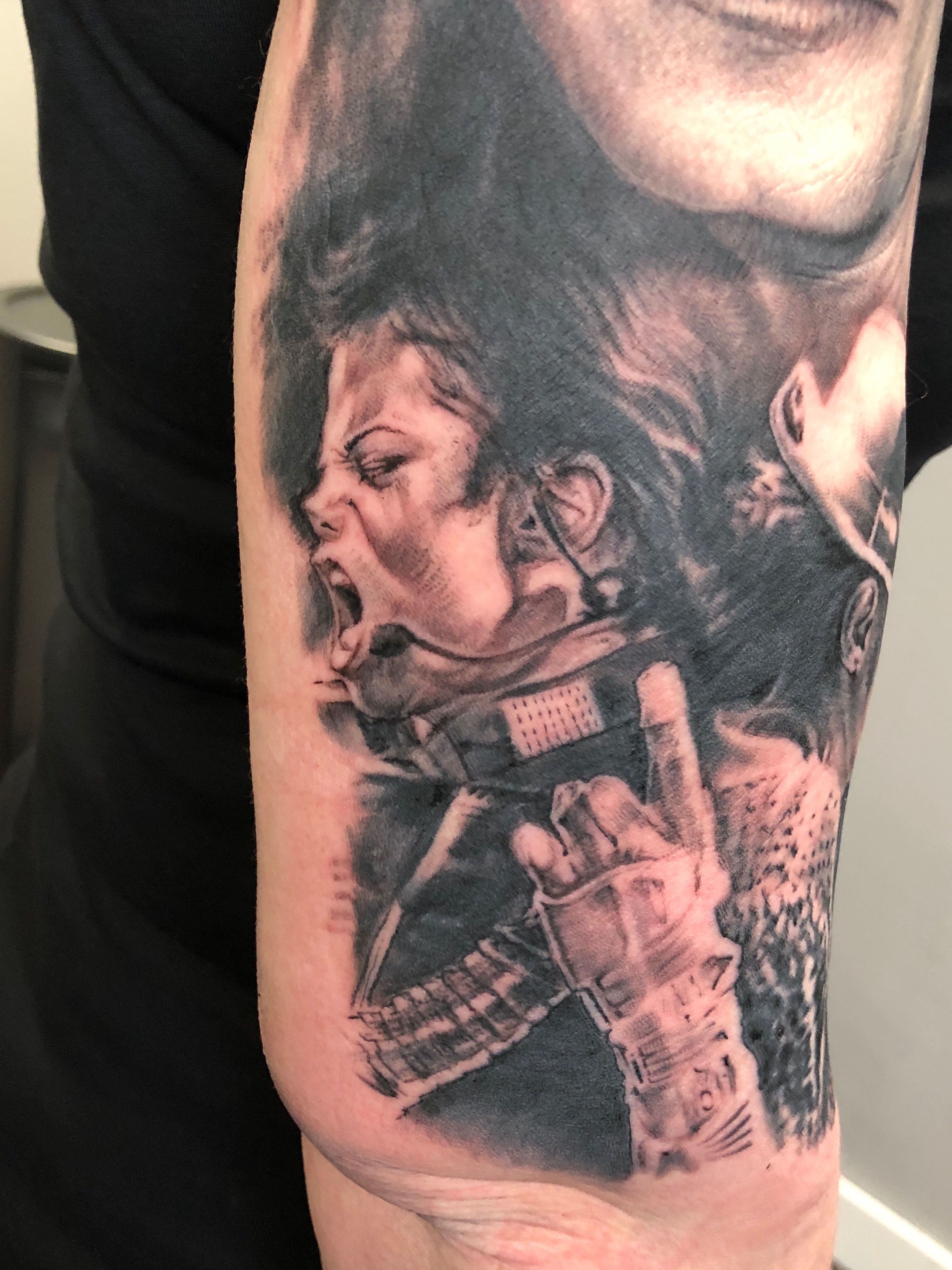 Retrato realismo Santander. Black and grey tattoo. Michael Jackson. Verger Tattoo. JR Verger