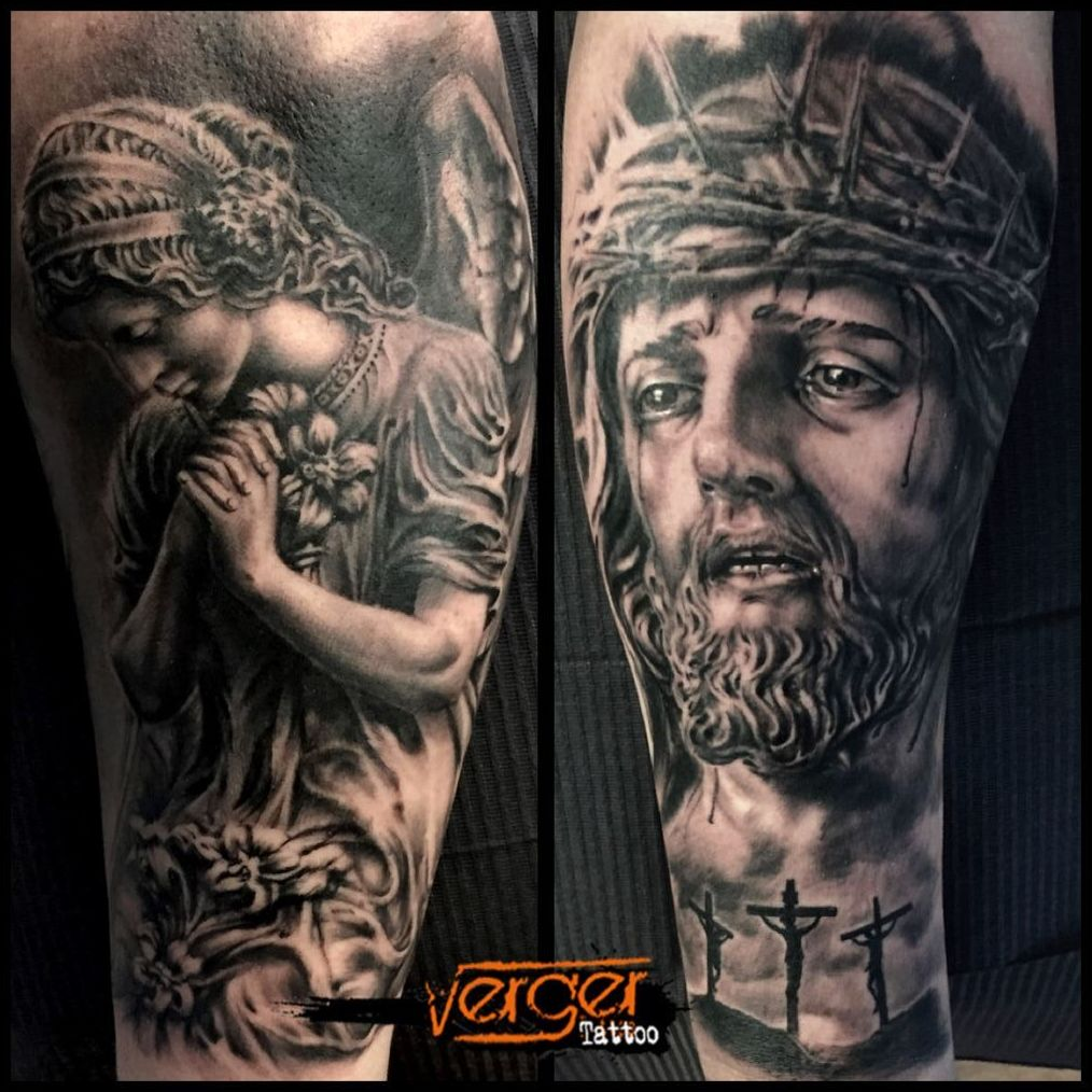 Retrato realista. Santander. Escultura tattoo. Verger Tattoo. JR Verger