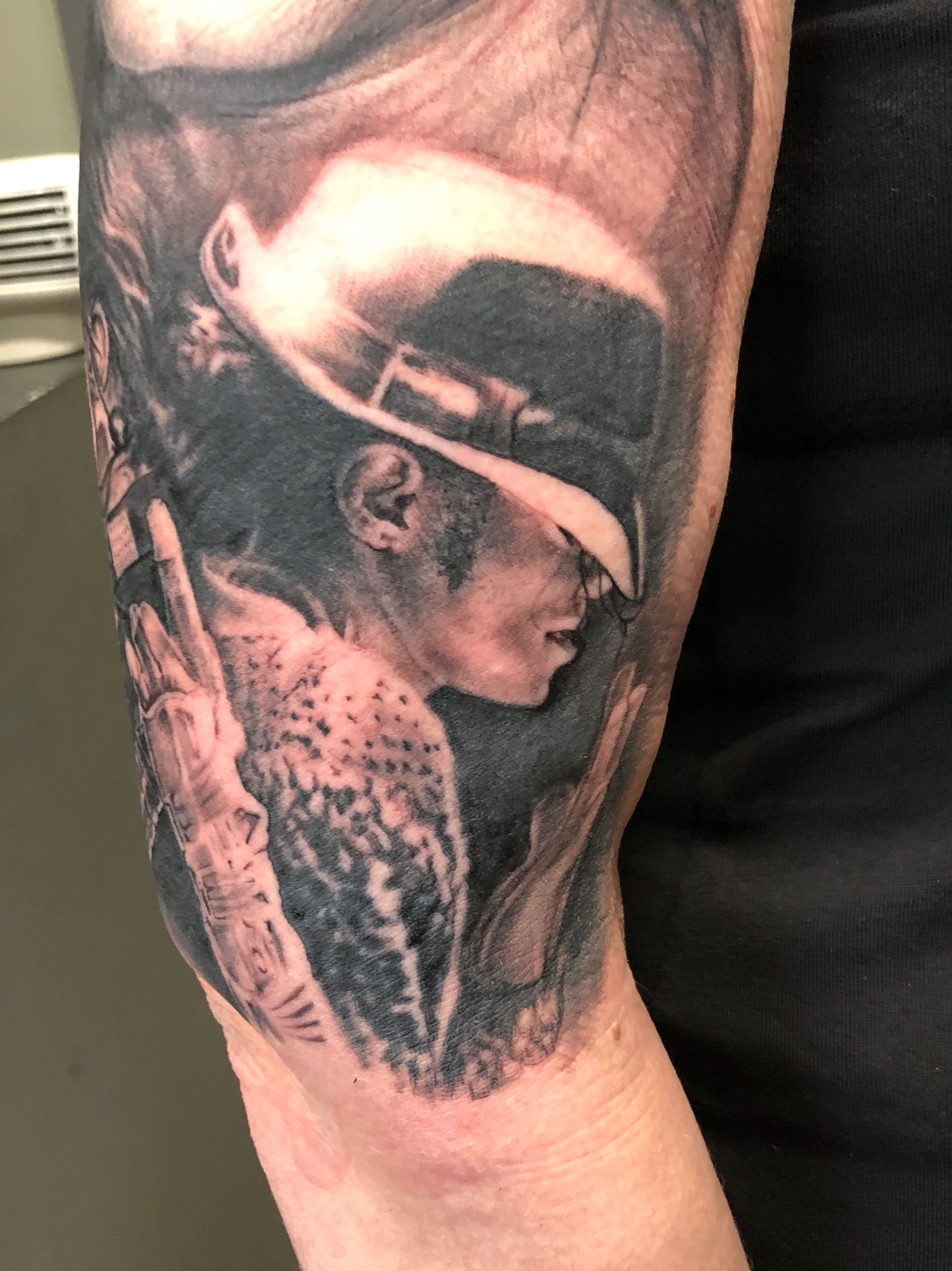 Retrato realista Santander. Black and grey tattoo. Michael Jackson. Verger Tattoo. JR Verger