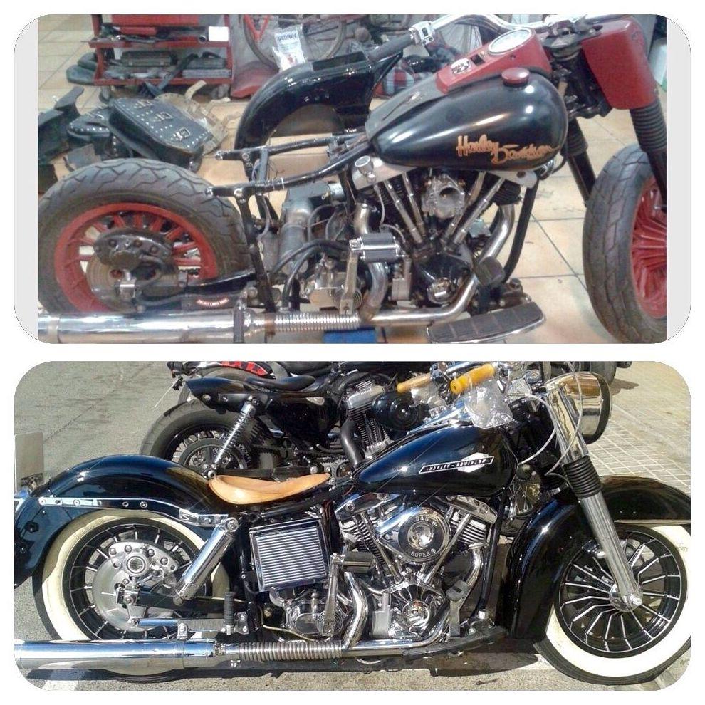 restauracion motos harley davidson, customizar motos, venta harley davidson shovelhead