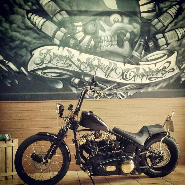 Personalisation of Harley Davidson motor cycles, Break Skull Choppers