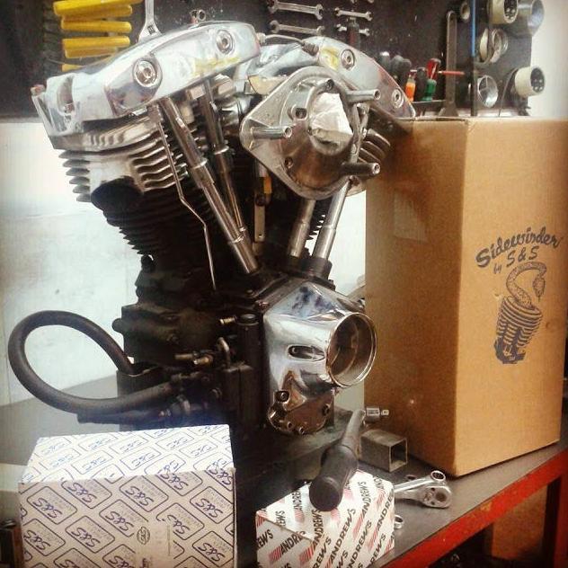 Repair of Custom motor cycles and classic bikes Break Skull Choppers