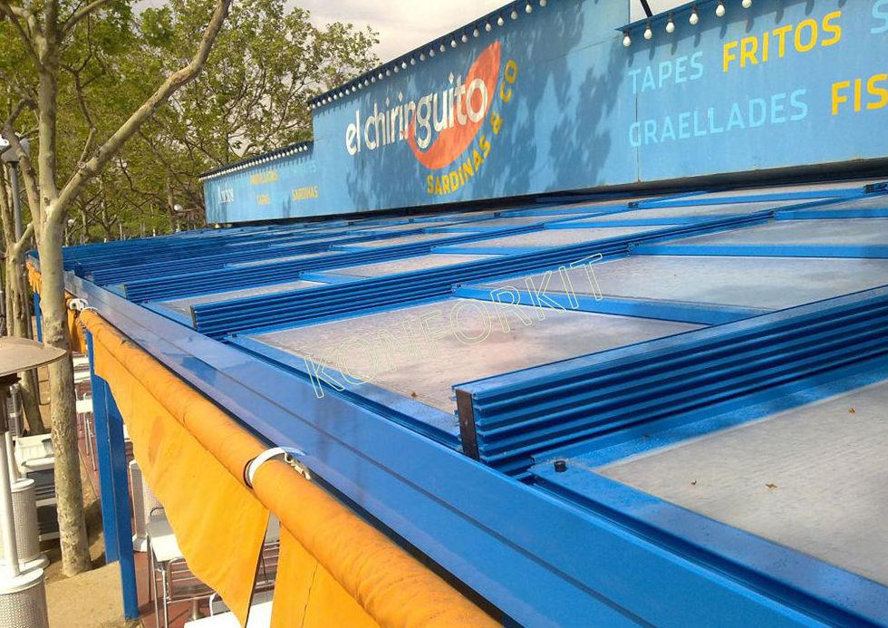 Instalación de techos móviles a medida