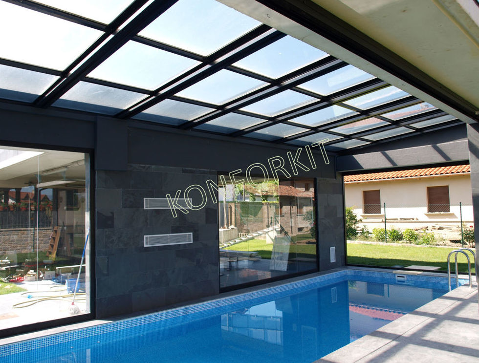Cerramientos de terrazas, piscinas, puertas plegadizas en Barcelona